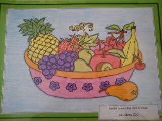 seni itu terapi sebakul buah