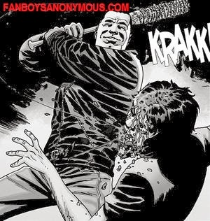 The Walking Dead Negan executes Glen with Lucille baseball bat