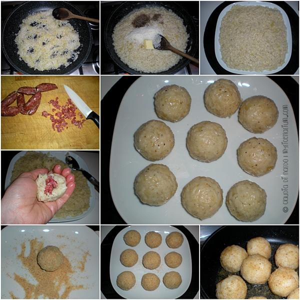 Crocchette di riso cacio, pepe e salamino