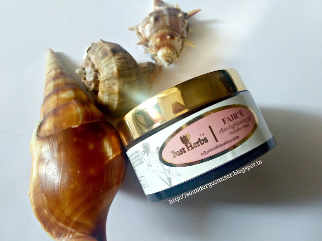 Just Herbs FAIR'E mulethi-Khus skin lightening gel Review