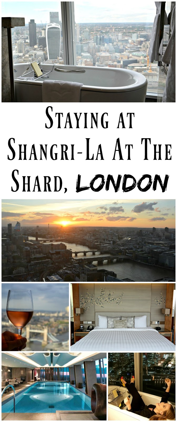 *PIN FOR LATER* A review of the luxury five star Shangri-La London At The Shard, London. The rooms have bathtubs overlooking London, and even a Skypool! Everywhere you go in the hotel has views for miles over London and the English Countryside, and I had the most incredible stay.