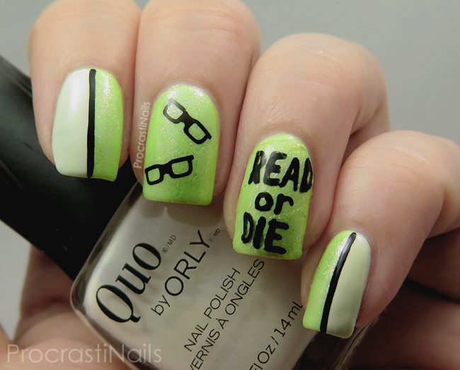 Nail Art // Slightly Inappropriate Nails for School Librarian Day ...