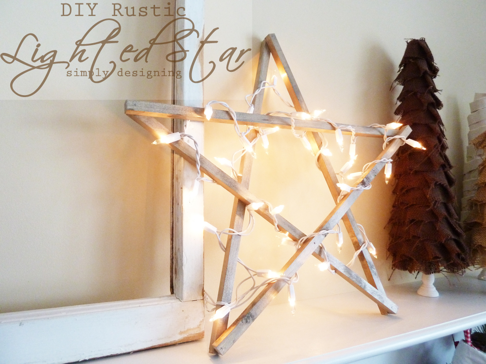 DIY Rustic Lighted Star