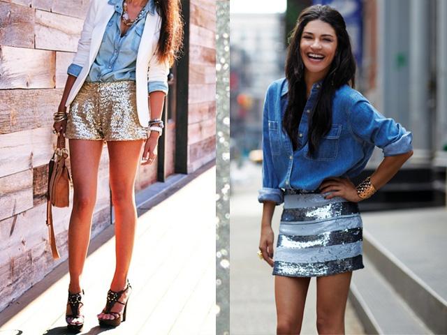 jeans + glitter