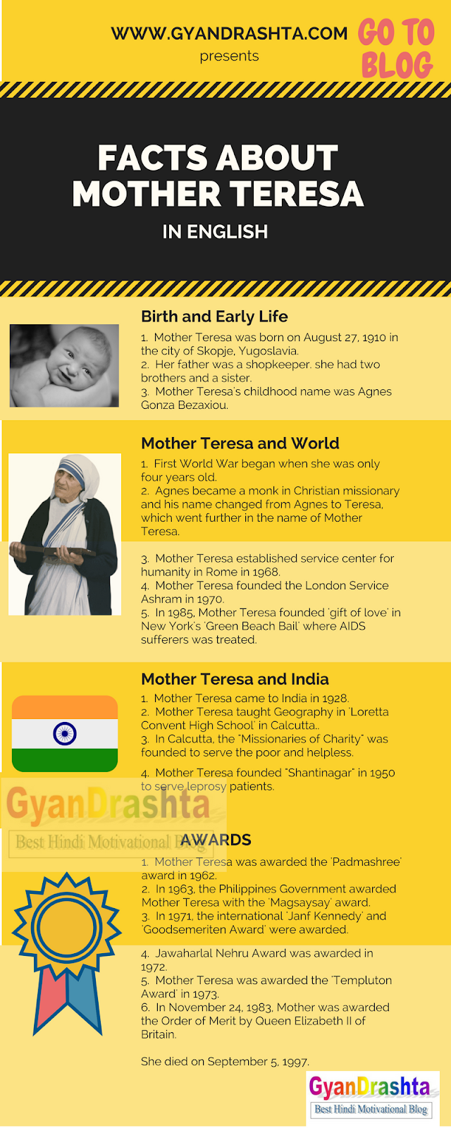 mother teresa in english