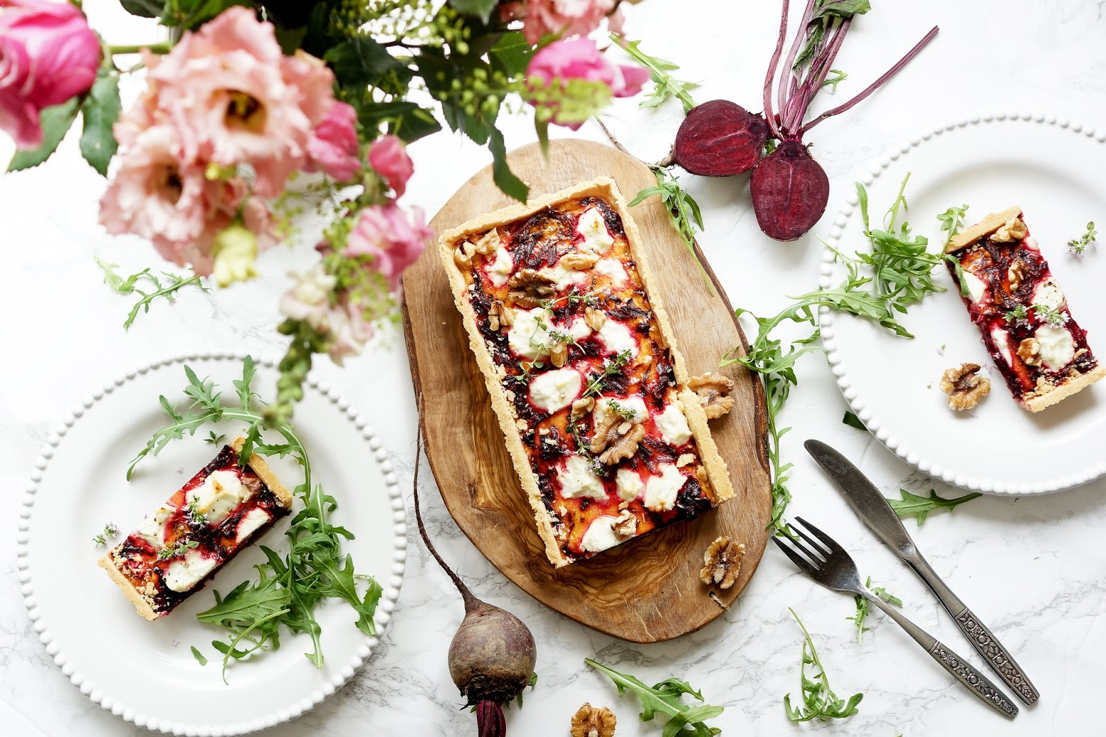 lifestyle-beauty-flatlay-photography-beetroot-tart-recipe