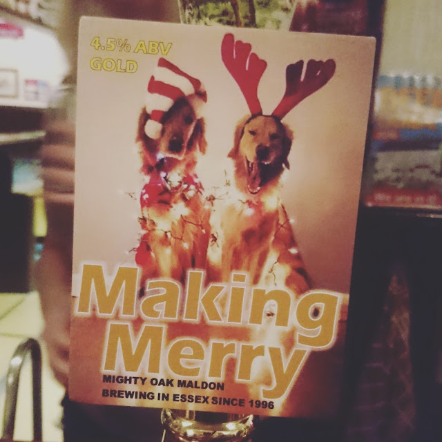 Essex Craft Beer Review: Making Merry from Mighty Oak real ale pump clip