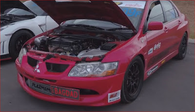 74 PSI of boost and 1238whp this Mitsubishi Evo 8