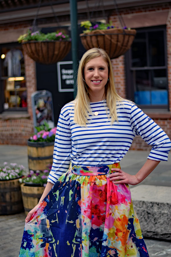 Striped_Tee_Floral_Midi_Skirt