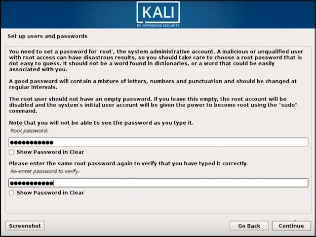 تثبيت نظام كالي لينيكس Kali linux