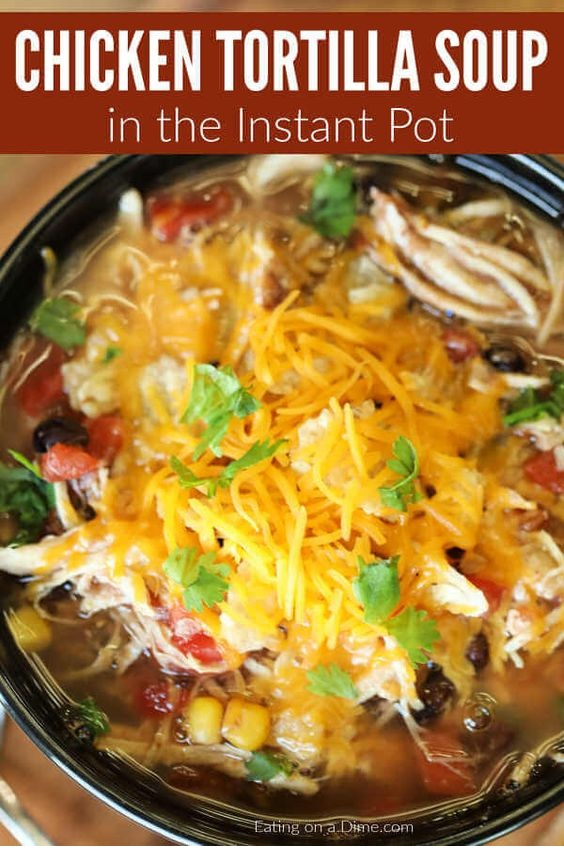Instant Pot Chicken Tortilla Soup Recipe