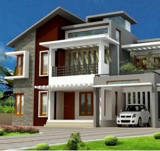 Desain Rumah Bertingkat Belakang