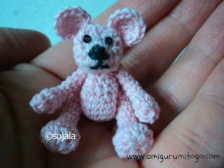 pink crochet thread bear
