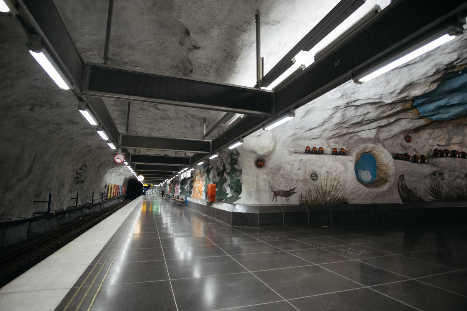 Tensta  metro station