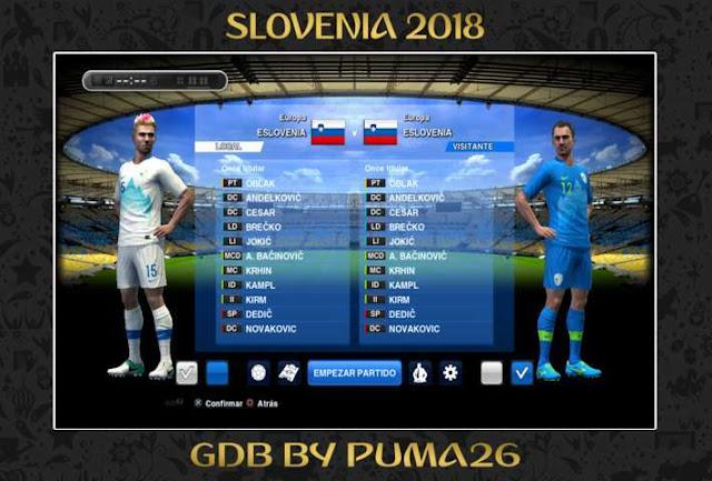 Slovenia 2018 Kit PES 2013