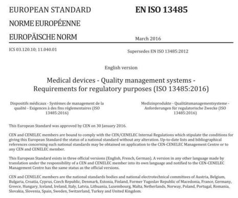 quÉ hago en caso de siniestro en iso 13485 2012 standard pdf free