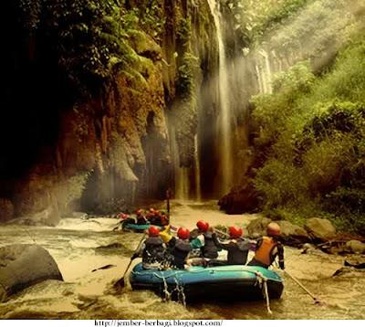 wisata arung jeram sungai pakelan probolinggo