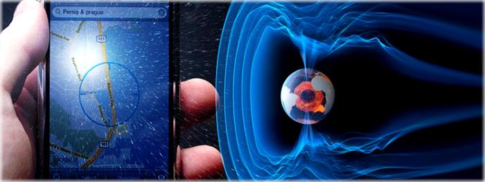 mudança no campo magnético da Terra