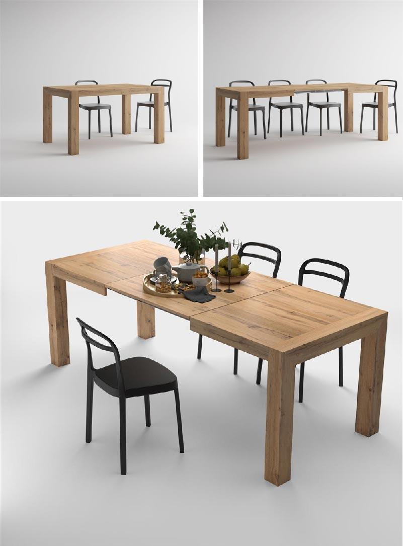 tavolo allungabile moderno Iacopo rovere rustico
