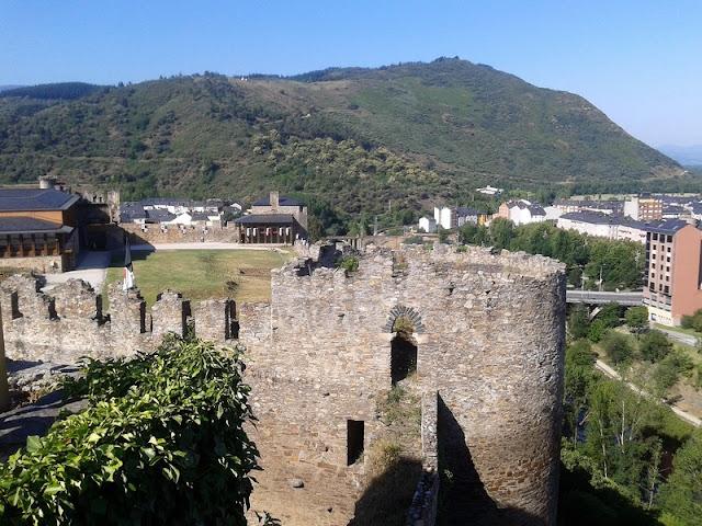 Castillo Templario de Ponferrada, vista desde la muralla