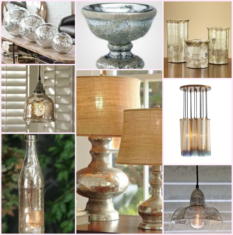 coastal accessories, mercury glass
