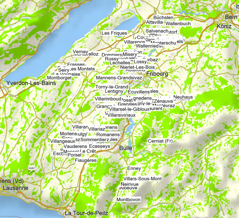 Freiburg Schweiz Karte.Projekt Gemeindewandern Schweiz Ehemalige Gemeinden Kanton