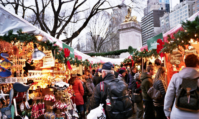 Columbus Circle Holiday Market em Nova York