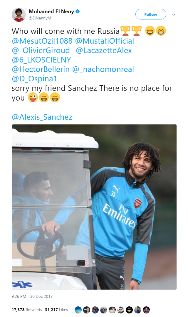 Mohamed Elneny is very, very mean