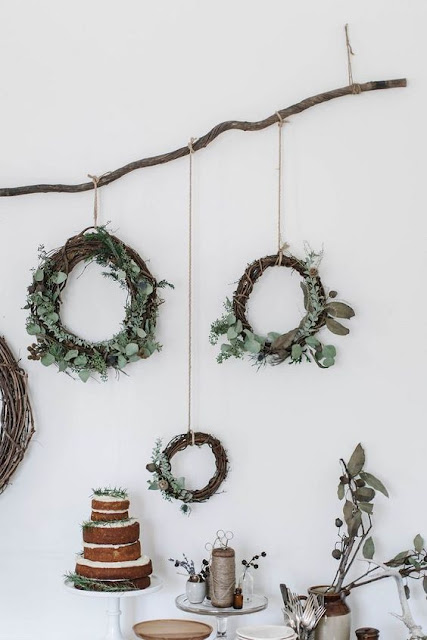 image result for modern farmhouse interior design christmas wreaths cake