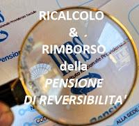 ricalcolo della pensione di reversibilità e rimborso