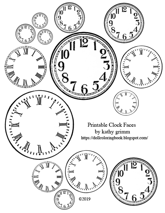 picture relating to Printable Clock Faces identified as Printable Clock Faces The Doll Coloring E book