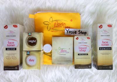 Cream Perawatan Pemutih Wajah Florin Skin Care Paket Komplit Original