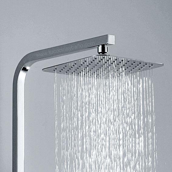 Columna hidromasaje ducha color inox dise o tu cocina y ba o for Telefono ducha