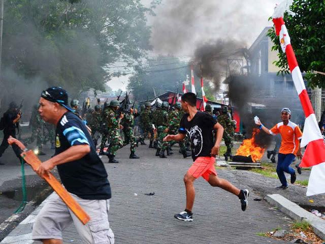 Bentrok di Salero Bagian dari Simulasi Penanganan Konflik Sosial di Ternate
