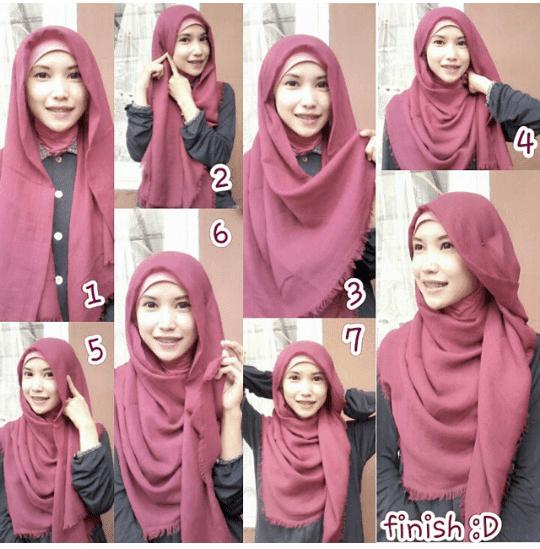 Tutorial Hijab Tutorial Hijab Tutorial Hijab Katun Rawis Segi Empat Autobloghijab