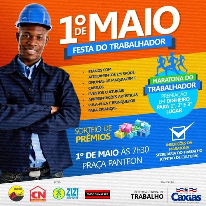 Prefeitura de Caxias realizará festa em comemoração ao Dia do Trabalhador