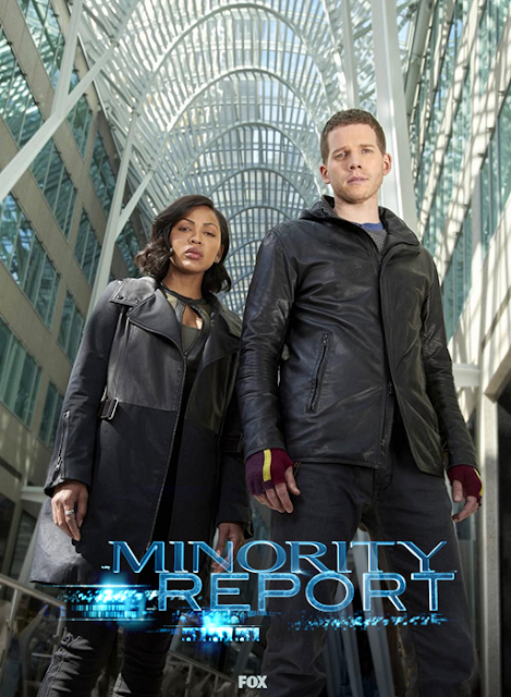 Meagan Good (Vega) şi Stark Sands (Dash) în serialul Minority Report