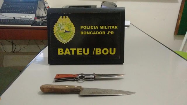Jovens foram presos por portar armas brancas em Roncador