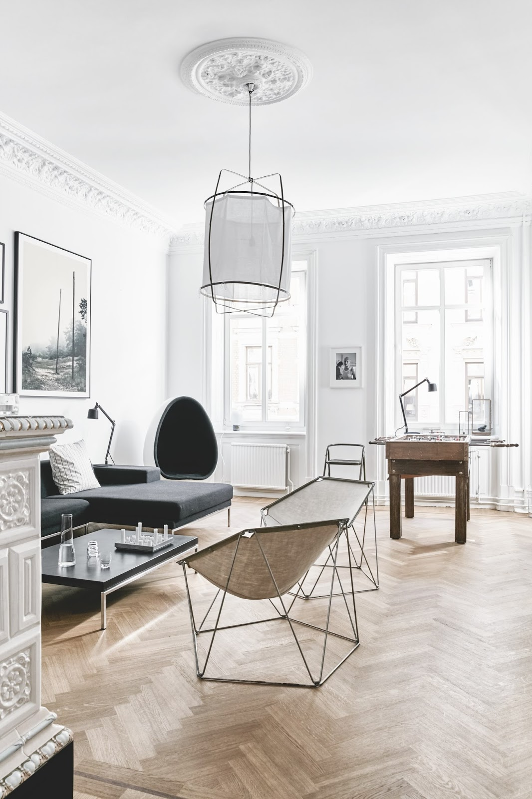beautiful living room inside of a spacious danish apartment