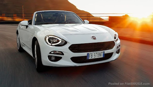 Fiat 124 Spider in the Sun