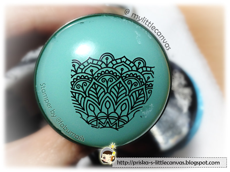 Bornprettystore's Arabesque Patterns & Peony Plate BP-48 with Squishy Stamper by @faburnails