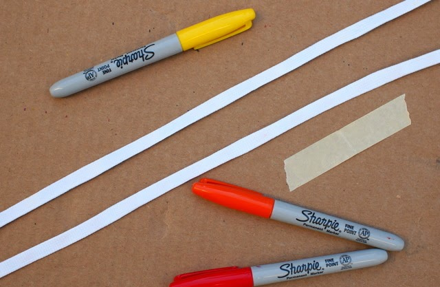 materials needed to decorate shoelaces