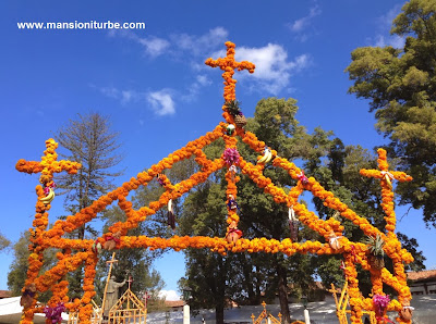 Ofrenda for Day of the Dead in Patzcuaro Mexico