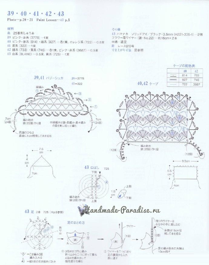 Уточки и попугаи амигуруми. Схемы вязания (5)