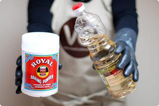 Levadura química y vinagre para evitar malos olores