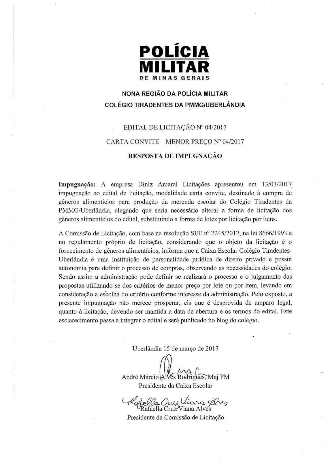 Impugnação De Edital Trabalhos De Casa October 2019