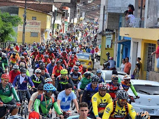 1º Passeio Ciclístico Terra das Águas movimenta a cidade de Barra de Guabiraba