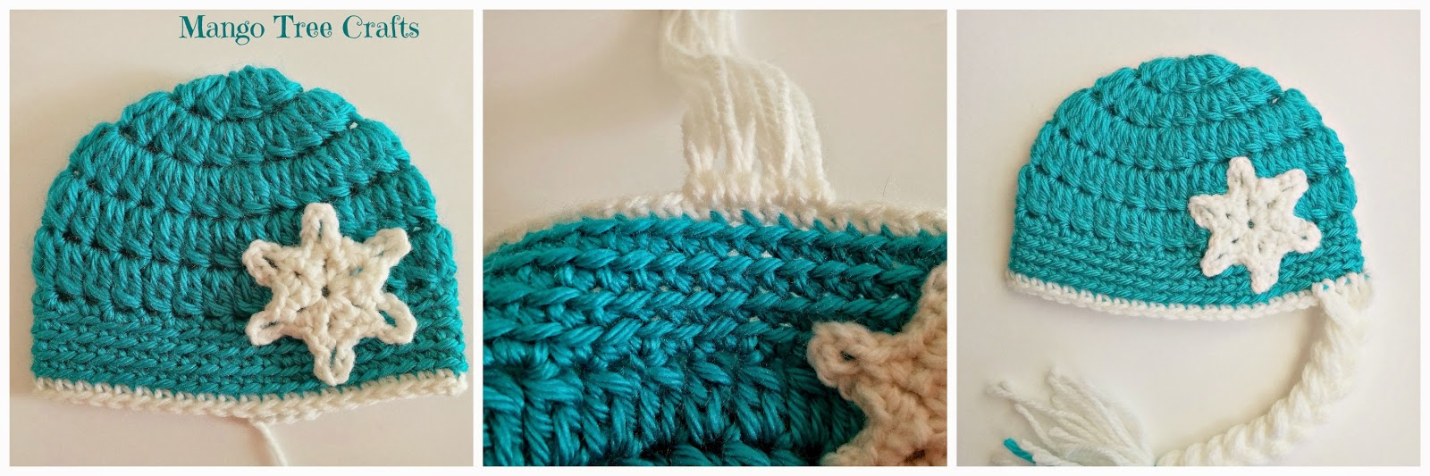 """Ice queen hat pattern for 18"""" doll"""