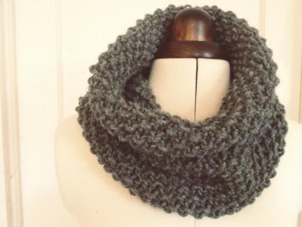Как связать шарф-хомут самой