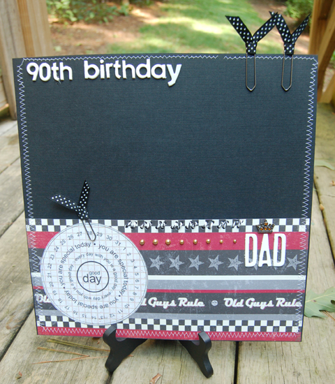 Folder For Dads 90th Birthday Cards